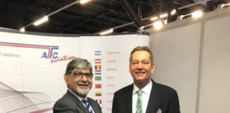 (left to right) Air Seychelles general manager for business development, Freddy Karkaria and ATC Aviation Services CEO, Ingo Zimmer