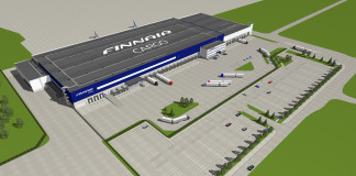 Finnair Cargo's new terminal at Helsinki Airport