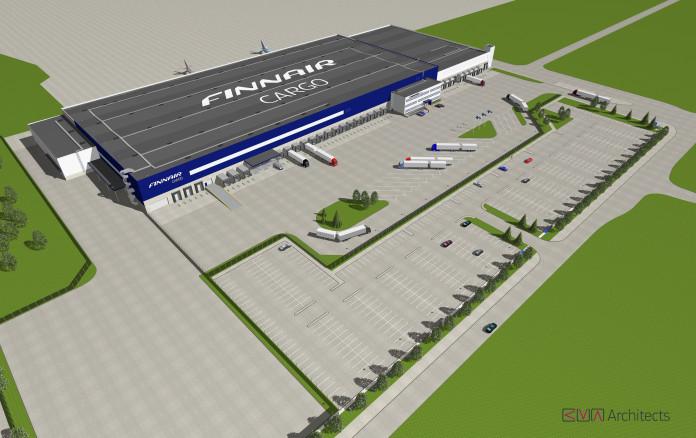 Finnair Cargo's new terminal at Helsinki Airport