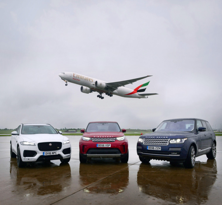 Emirates Flies Luxury Jaguar Land Rovers From Birmingham