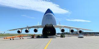 Antonov transports medical supplies