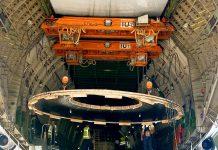 Antonov flies mining equipment