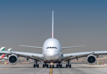 Emirates will operate the A380 on its daily EK123/124 service.