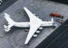 AN-225 Mriya flies 110 tonnes