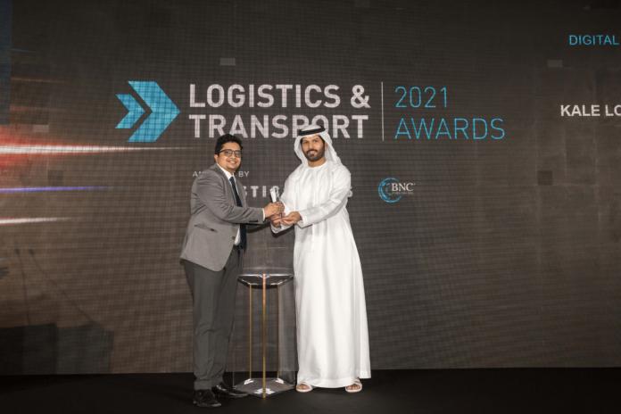 Kale Logistics wins Digital Solutions Provider